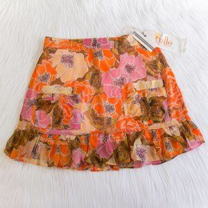 NWT Anthropologie Tulle Floral Skirt w/ Pockets